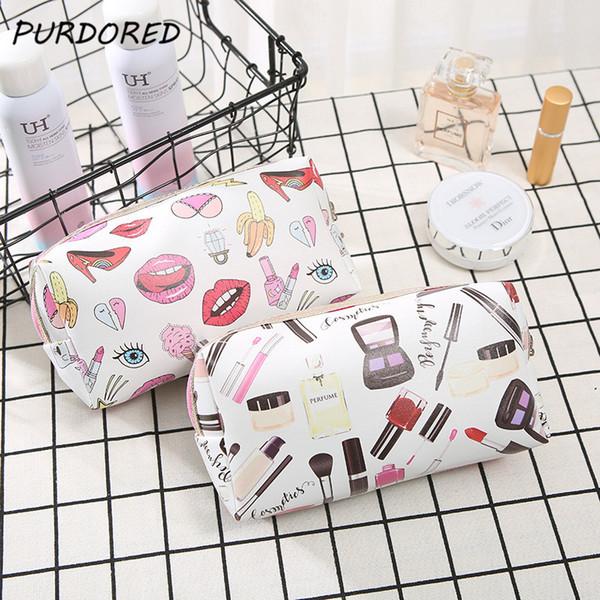 PURPORED 1 pc 3D Printing Makeup Bag Travel Women Lip Cosmetic Bag Toiletry Beauty Makeup Organizer kosmetyczka Dropshipping