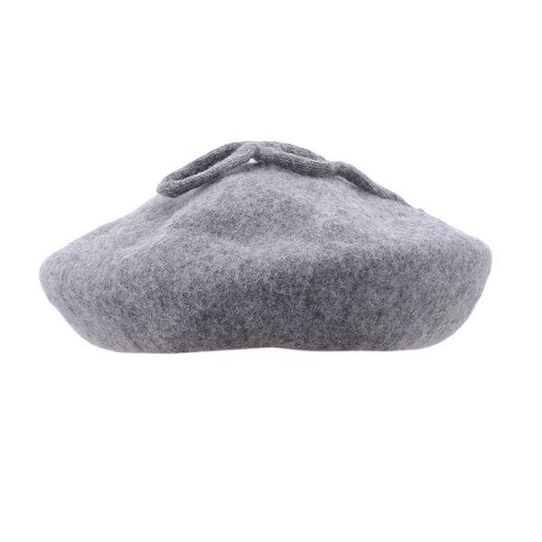 Frauen Wolle Behaart Barett Weibliche Winter Hüte Für Frauen Flache Bogen Kappe Hüte Dame Mädchen Berets Hut Weibliche Knochen Maler Hut
