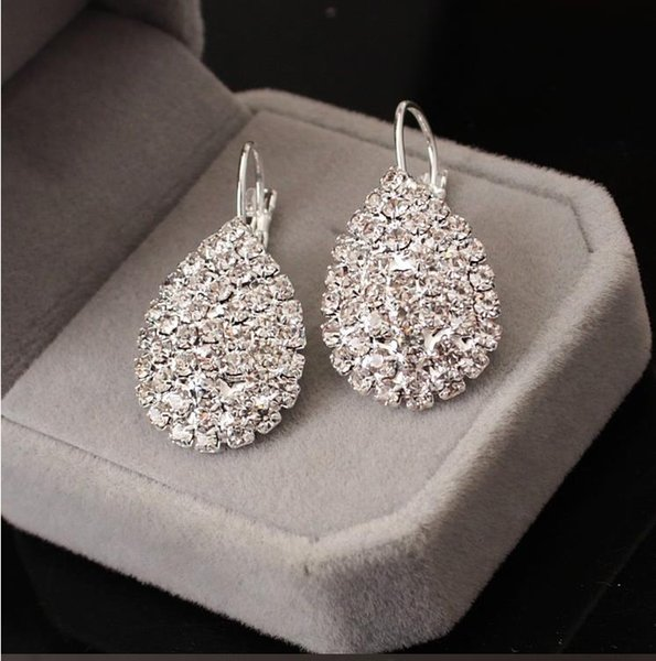 Elegant wind claw chain water drop set with diamond fashion earrings boutique earrings