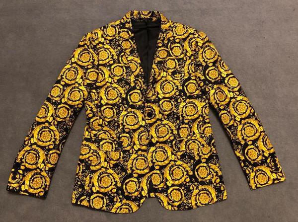 2019 Top quality Men's Designer Suits Blazer Medusa Flowers print Luxury hoodie black Men Women tag New wedding Windbreaker