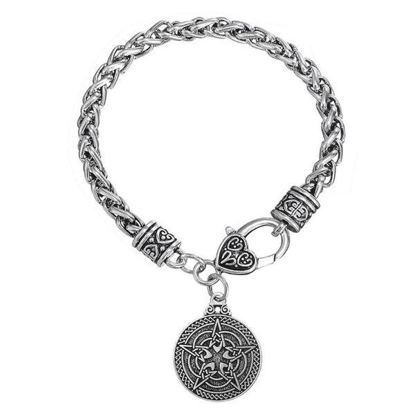 GX118 In lega di zinco Religioso stella del coniglio pendente a catena di grano Bracciale in acciaio inossidabile hare pendente bracciale per uomini o donne gioielli