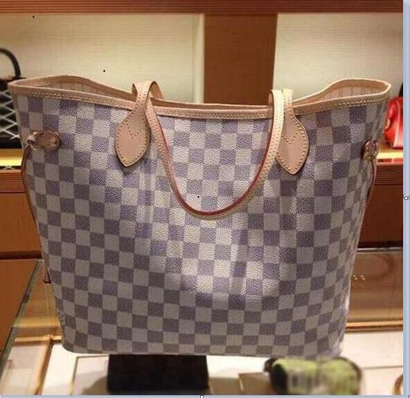 2019 Original 2018 free ship NEVER FULL cowhide leather handbags color leather shopping bag Never single shoulder bag 12
