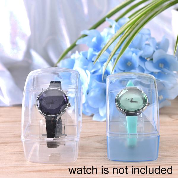 Stand Rack Tool chiaro orologio da polso in plastica porta-espositore porta Clear Acrylic Watch Display portavetrini stand case tool