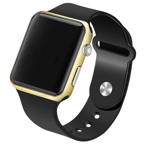LED Watch Dijital saatı Erkekler Saatler Su geçirmez Spor Silikon İzle Elektronik Saat reloj hombre relogio masculino