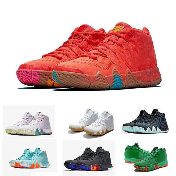 2019 Kyrie Irving IV 4 Confetti Uomini scarpe da ginnastica alta Irving caviglia Pallacanestro Zoom Championship Finals Sport scarpe da ginnastica formato 40-46