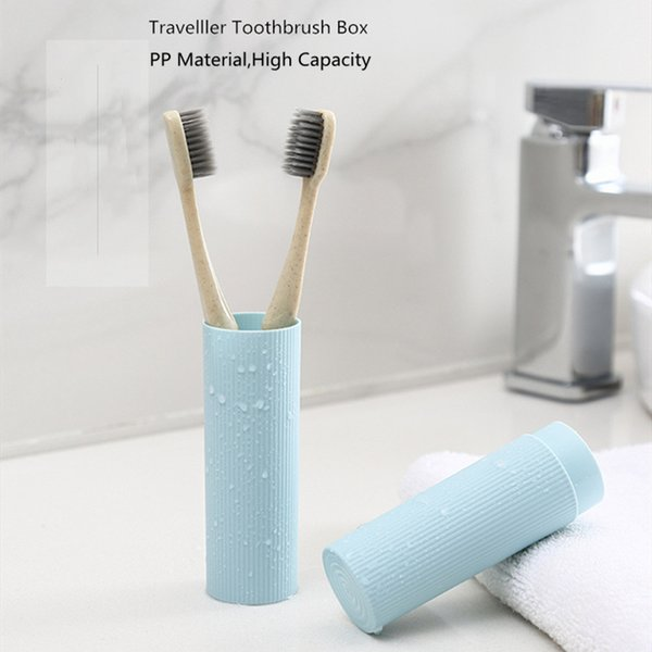 Health Tooth Brushes Protector Box Toothbrush Tube Cover Case 1pc Dustproof Wheat Straw Portable Travel Toothbrush Box