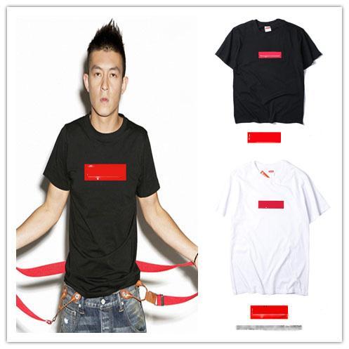 19ss yeni erkek tasarımcı tişört suprême çift rahat marka vahşi tişörtleri kadın pamuk ince tişörtlü moda klasik sokak hip hop t-shirt.
