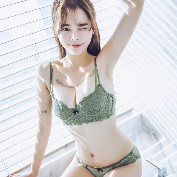 Nuovo reggiseno sexy Pizzo tentazione Donna reggiseno intimo set best seller 2019 estate traspirante comodo alta qualità femminile brassie