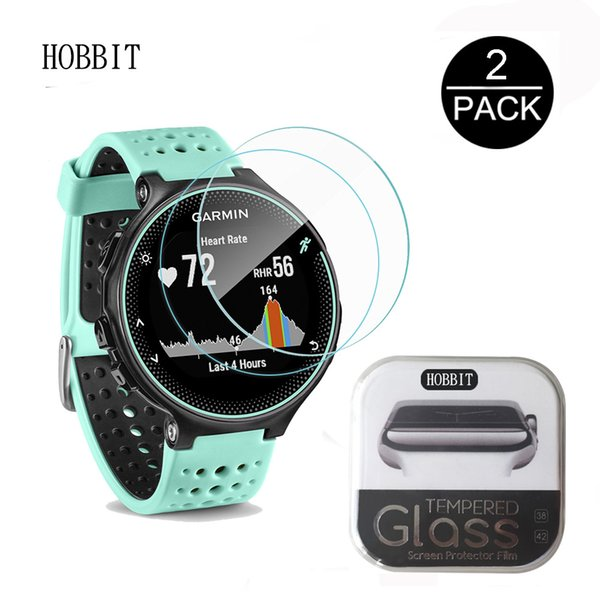 2Pack For Garmin Forerunner 235 230 0.3mm 2.5D 9H Clear Tempered Glass Screen Protector Smartwatch Scratch Resistant Film