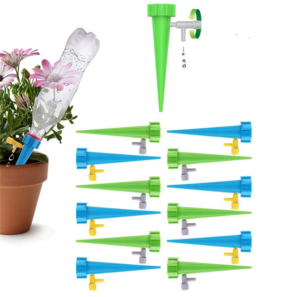 top popular Plant Spikes System with Slow Release Control Valve Switch Self Irrigation Watering Drip Devices for Outdoor Indoor Flower or Vegetables 2021