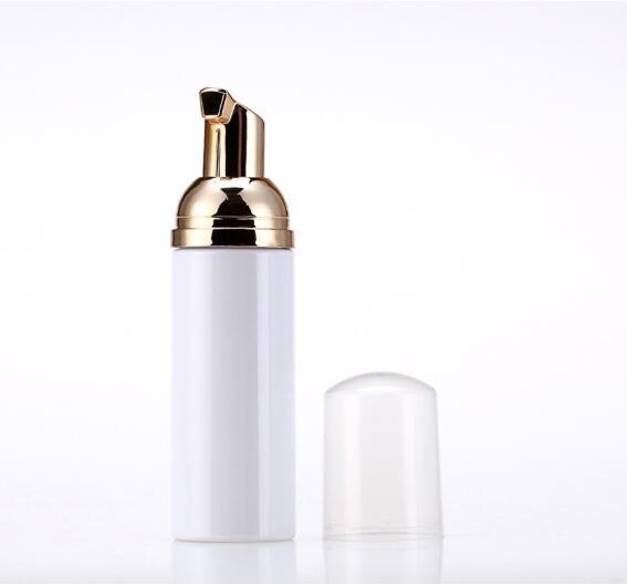 50мл Бутылки для пеногенератора для путешествий Пустые пластиковые пенопластовые бутылки с золотым насосом Мыло для мытья рук Мыло Мусс Крем Диспенсер Пузырьковая бутылка BPA Free