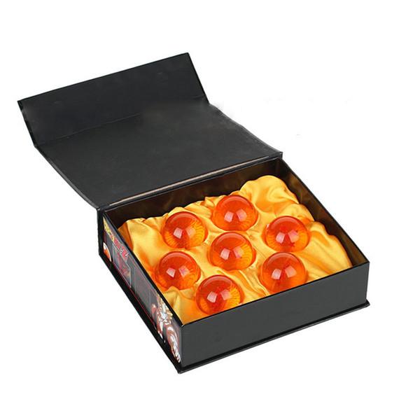 애니메이션 드래곤 볼 오렌지 블루 7 별 약 3.5CM 슈퍼 Saiyan 액션 피규어 드래곤 볼 Z 완료 세트 박스 장난감 7pcs / 상자 C5854