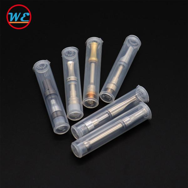 Cartouches de vape Tube en plastique pour kingpen dank cartouche ecig Réservoir Emballage Tube transparent Ceramc Bobine Chariots DHL Livraison gratuite