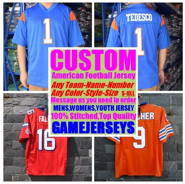 top popular Custom american football jerseys college cheap authentic customize soccer sports jersey stitched mens womens youth kids 4xl 5xl 6xl 7xl 8xl 2019