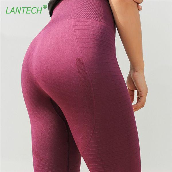 Lantech Sport Frauen Laufen Yoga Hosen Sportswear Fitness Hohe Taille Leggings Übung Gym Compression Strumpfhosen Hosen Hosen T190728
