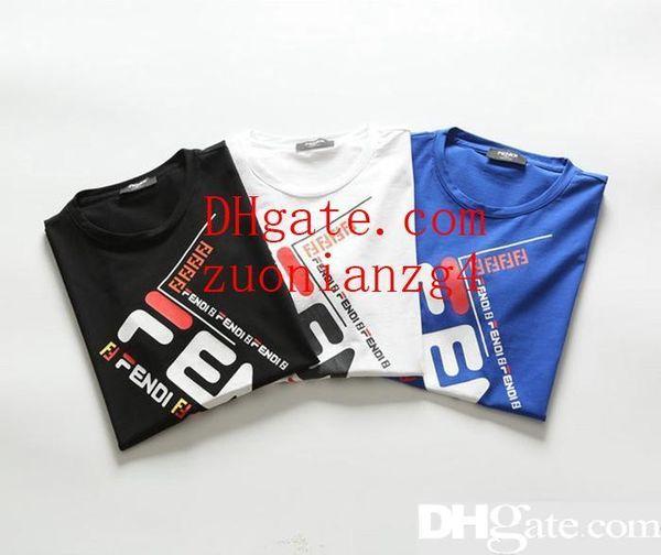 2019ss t shirts pour hommes T-shirts Haute Qualité Femmes Imprimé À Manches Courtes T Shirts Hommes s Casual Coton Streetwear Tops Tees