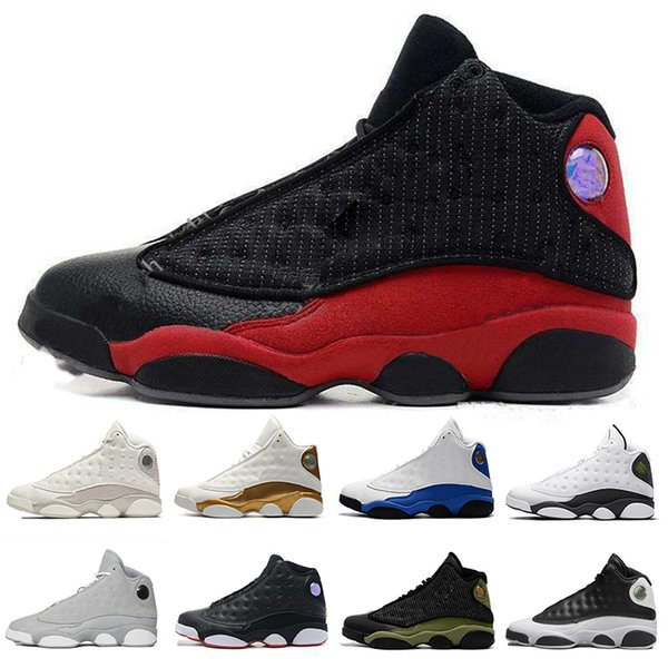 With Box 13 13s Cap And Gown Blue Shield Terracotta Blush Black Infrared Phantom Hyper Chicago Black Cat Mens Basketball Shoes Big Size 7-13