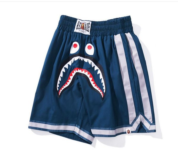 2019 Hot Sale Shark Shorts Couple Beach Casual Men Women Pants Hot Biber Men ' S Shark Head Print Embroidery Pants Shorts