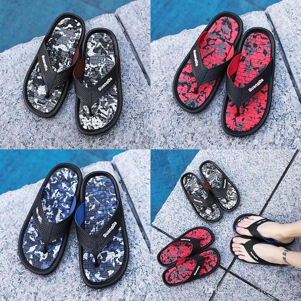 sandali firmati hot sandali da uomo sandali con zeppa firmati sandali neri macchiettati rosso infradito estate trampolieri sandali da spiaggia