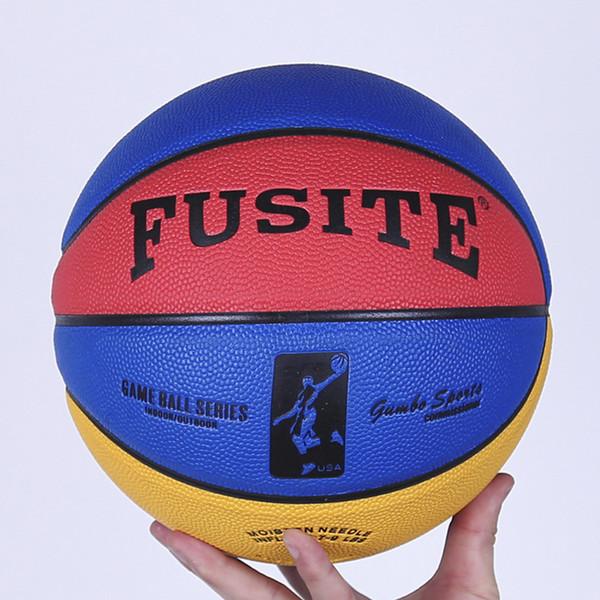 Nueva marca de balones de baloncesto de los hombres Size5 6 7 alta calidad de cuero de la pu exterior tamaño 6 interior pelota de baloncesto con aguja + bolsa