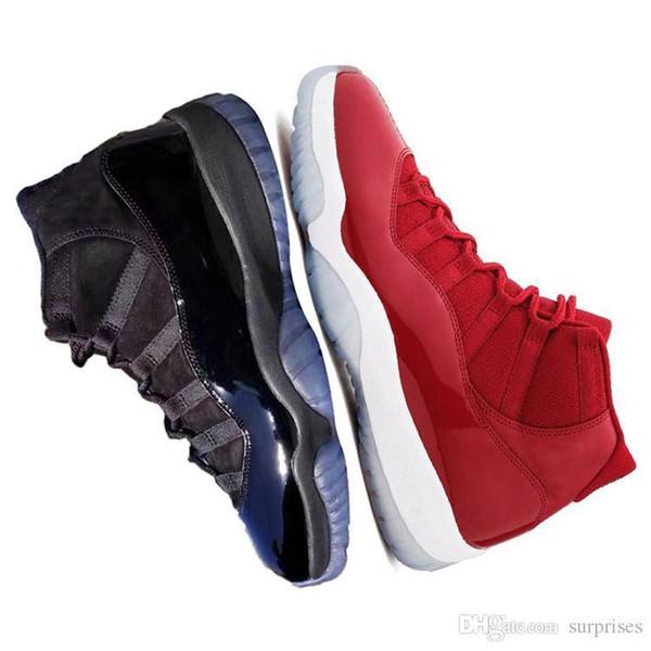 Prom Ankunft 11 New Night Cap und Kleid GEWINNEN WIE 82 96 Midnight Navy Herren Basketball Schuhe UNC Gym Red 11s Sports Sneakers