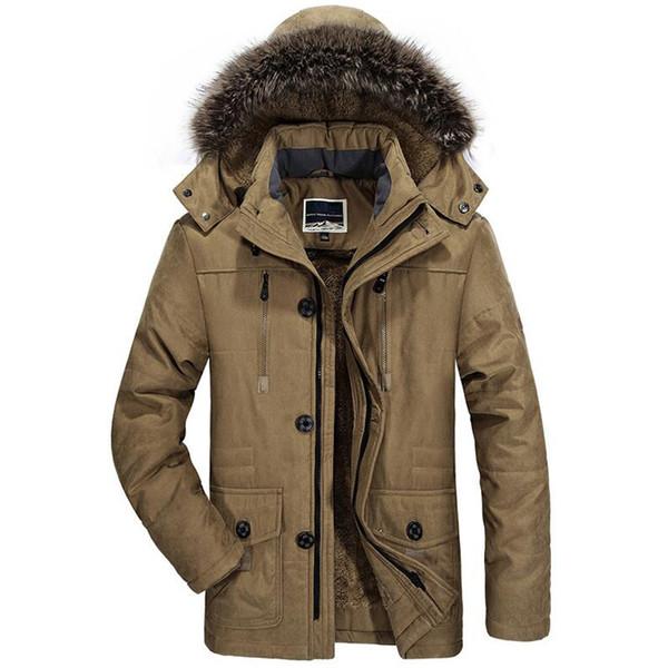 Winter Military Jacket Men Thick Fur Hooded Windbreaker Warm Coat Plus Velvet Parka Size 4xl 5xl 6xl Mens Army Outwear Jackets