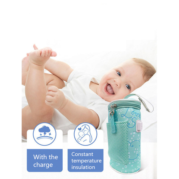 Portable USB Heating Baby Milk Water Bottle Warmer Bag Car Travel Heater Hot