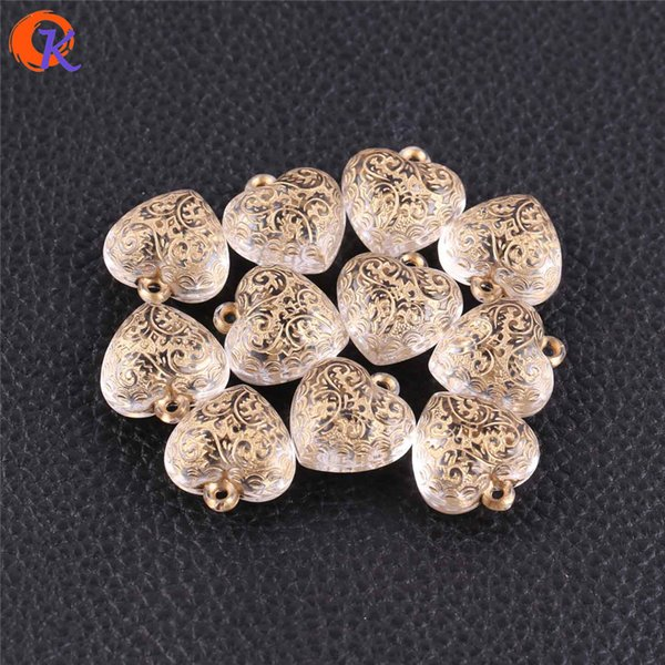 wholesale 20x22mm 175pcs/lot Clear Acrylic Beads/Antique Beads/Heart Shape Beads/Hand Made/Japanese Earrings Jewelry Making
