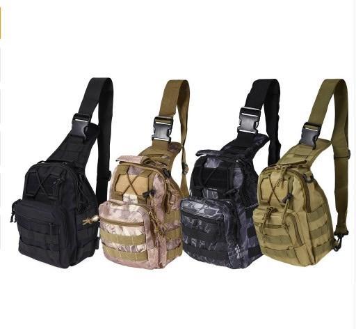 Tactical Military Shoulder Bag outdoor Hiking Messenger Sling Backpack 1000D Nylon 7 Color multifunctional Chest Bag #672554