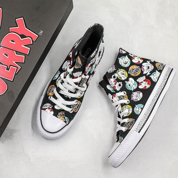 Halten Taylor STAR Chuck 70 Hallo Tom Jerry Schuhe Graffiti Hoch Half Size Originals Klassische Skateboard-Turnschuhe Mädchen Herren 90.
