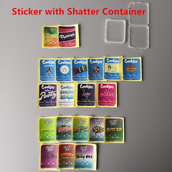 Sticker with Shatter Container