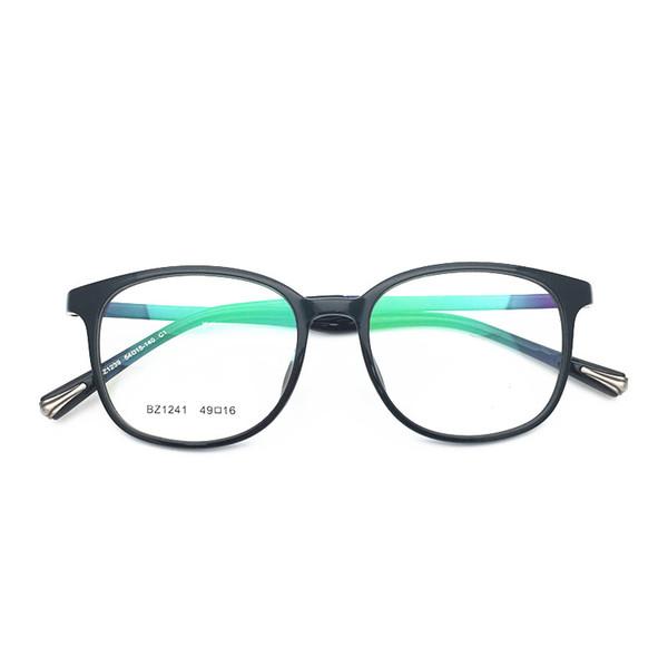 Brand Design women men square classical TR90 with titanium top quality optical frame spectacle optical Clear prescription Lenses 1241