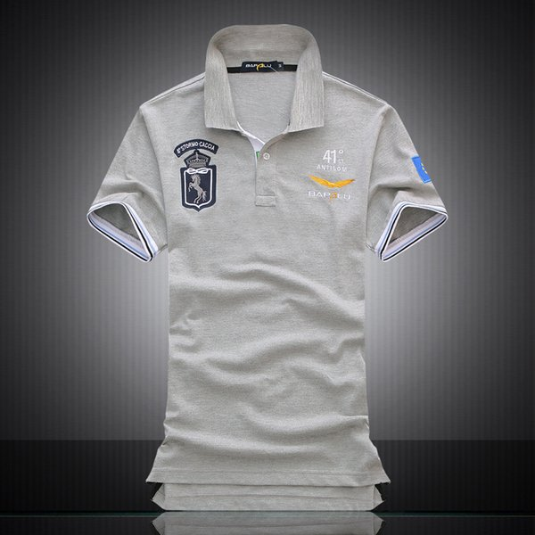 Brand Polo Shirt Men Embroidery Breathable Shirts Gray Training Exercise Cotton Sport Polo for Men Tops Short Sleeve Tees Running