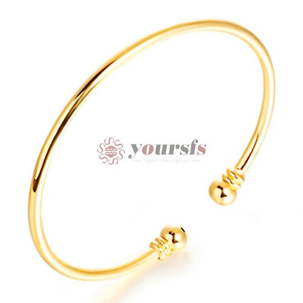Yoursfs banhado a ouro 18k pulseira elegante simples vento étnica pulseira de noiva jóias