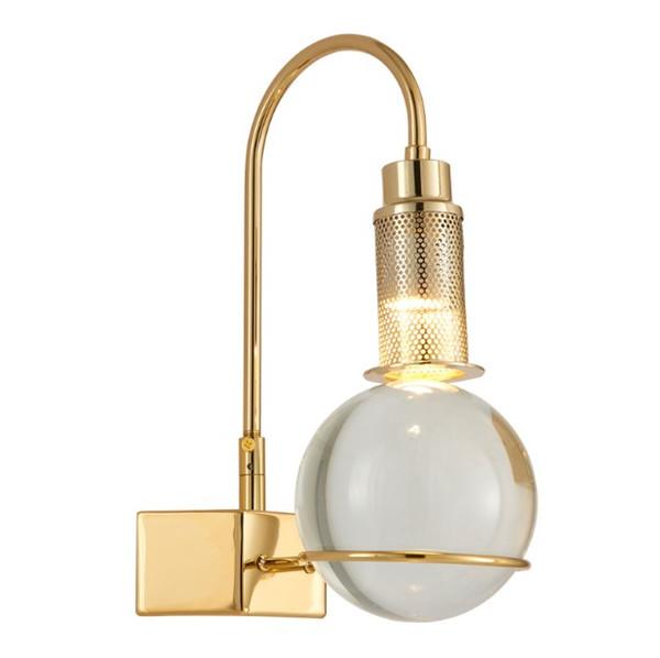 Crystal Ball Led Wall Lamp Modern Creative Bedside Wall Light Bedroom Living Room Corridor Design Personality Decor lamp LLFA