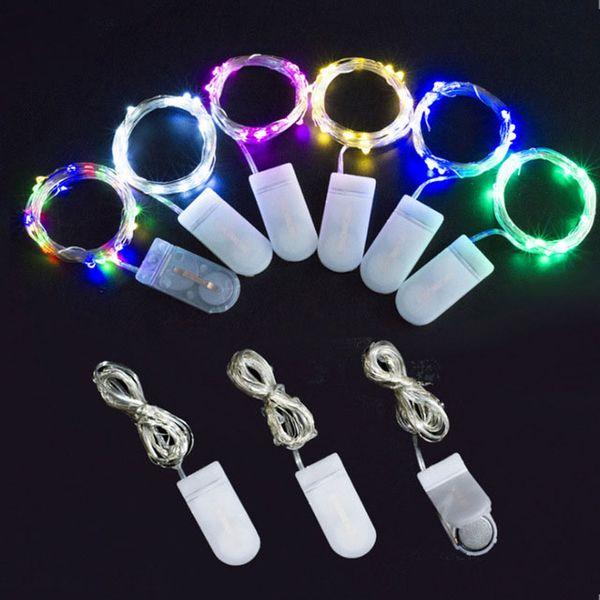 2M 20LED Fairy Lights lumière étoilée CR2032 bouton lumière à cordes à piles pour les décorations de noël