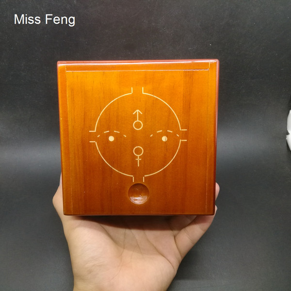 SH075 / Wooden Hard Puzzle Box Difficult 3D Maze Brain Teaser Game Toy Novelty Coin Money Box Gift Kid