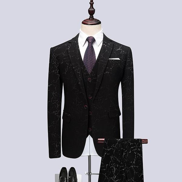 Asie taille S - 6XL hommes blazer veste + pantalon + gilet, spectacle hôte performance robe hommes costumes concepteurs de blazer 2019 hommes manteau