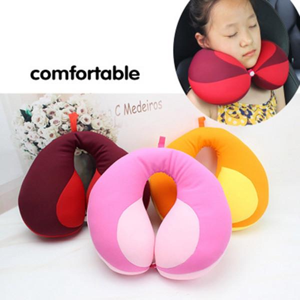 Almohada en forma de U Kids Car Travel Cuello Almohada Reposacabezas Cojín de aire Asiento de automóvil para niños Soporte para la cabeza Bebé infantil