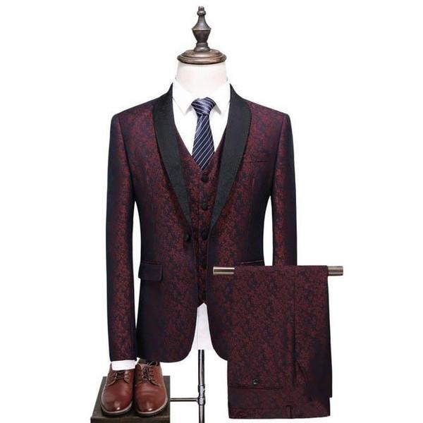 2019 Mens fashion Suit Slim Fit Business Suit Men Classic men's Wedding Suits Formal Wear dress dsy136