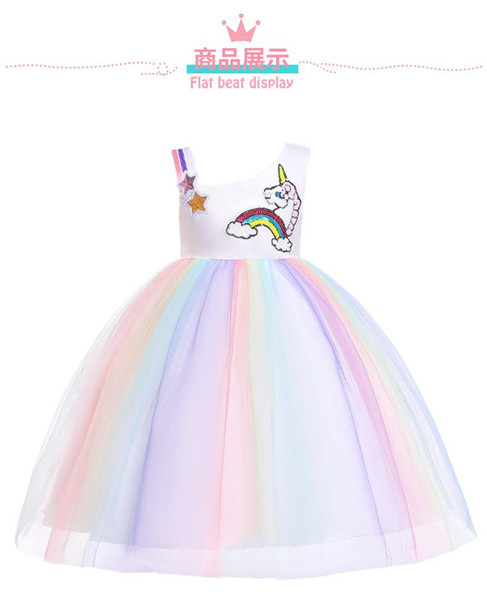 Compre Vestido Unicornio Para Babys Girl Princess Dress Unicorn Party Girls Easter Niños Vestidos Para Niñas Ropa A 1759 Del Chinazy Dhgatecom