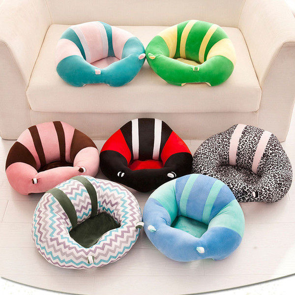 best selling Newborns Dining Chairs Portable Infant Support Soft Seat plush Car Seat Pillow Cushion cartoon Baby Seats Sofa 14 colors M1389