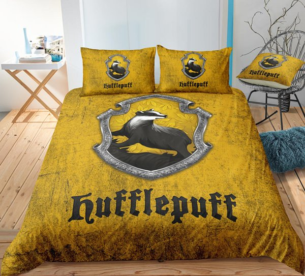 Thumbedding Harry Potter Bedding Set King Size Magic Design Duvet Cover Set Queen Twin Full Single Double Animal Bed Set With Pillowcases