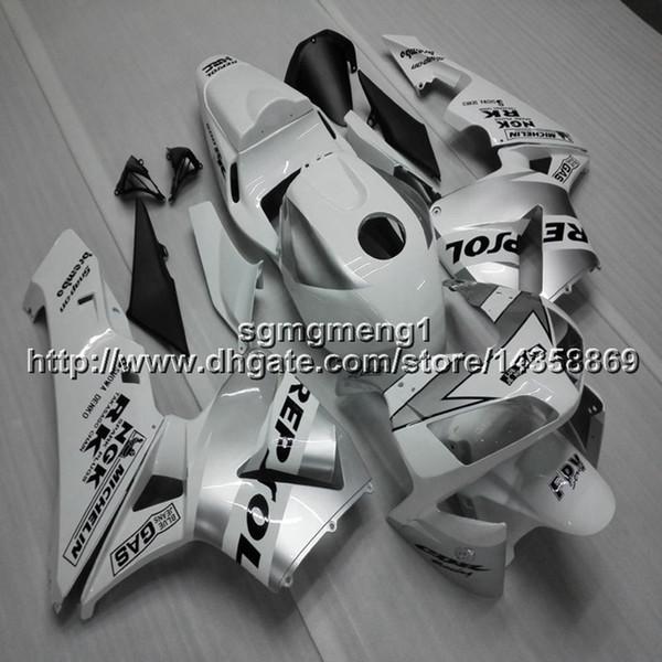 23 colores + regalos Molde de inyección repsol paneles de motocicleta blancos plateados Kit de carrocería para HONDA CBR600RR 2003-2004 Carenado del motor ABS