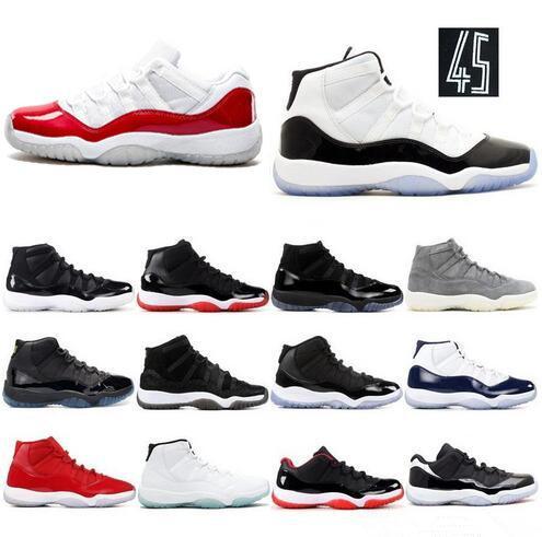 Concord 23 45 11 XI 11s Casquette et robe PRM Heiress Gym Rouge Chicago Platinum Tint Space Jams Hommes chaussures de basketball baskets de sport