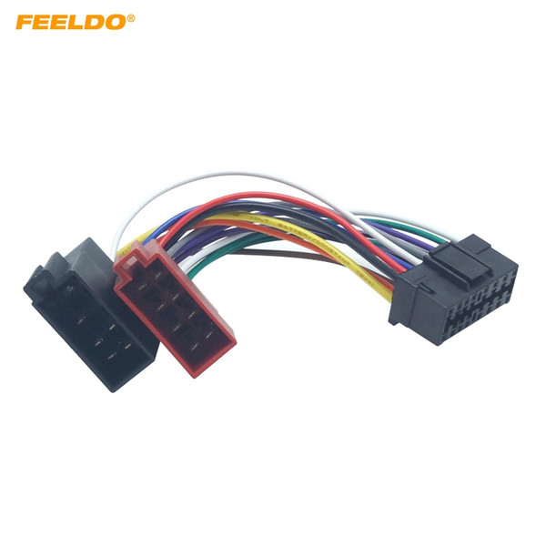 2019 FEELDO Car Radio CD/DVD Stereo ISO Wiring Harness Adapter For on