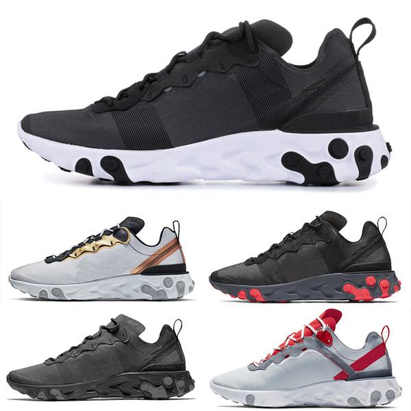 Nike Epic React Element 87 Undercover Эпическая реагировать элемент под прикрытием прозрачный свет мужская дизайнерская обувь Женские кроссовки тренеры открытый мужская спортивная