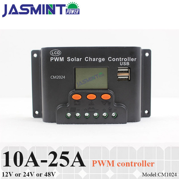 10A 15A 20A 12V/24V auto work 48V PWM SOLAR charge controller with LCD display,charge regulator for only lead acid battery