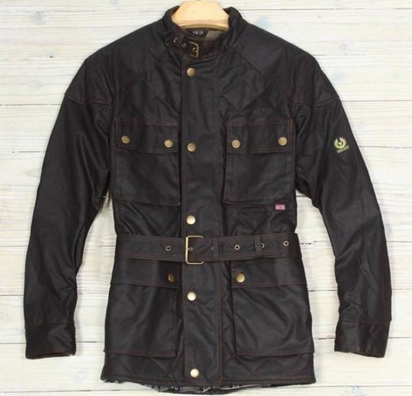 2019 nueva chaqueta chaqueta de bombardero Hombres Veste Tourist Trophy Cera de algodón capa de los hombres kurtka Turystyczna Giubbotti Cerati Moto Y190923