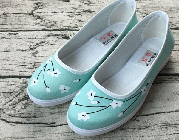 Designer Dress Shoes Free send 2019 spring and autumn new style round head women's Cloth @01